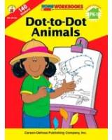 Dot-To-Dot Animals, Grades PK - 1 Home Workbooks