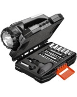 35 Pieces SOS Torch & Ratchet Set A7141 - Black & Decker