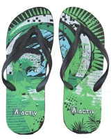 Slipper For Men 120085 Green/Black - Jel Activ