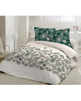Andlusia Design Deap teal Flat Bed Sheet - Comfort