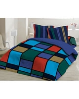 Printed Fitted Bed sheet Blue - Comfort