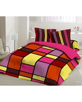Printed Fitted Bed sheet Orange - Comfort
