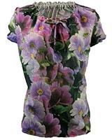 Short Sleeve Floral Blouse BL715 Multicolor - Giro