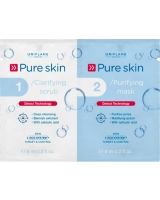 Pure Skin 1 Clarifying Scrub 2 Purifying Mask - Oriflame