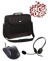 "Mark 15.6"" Laptop Bag + Headphones LH-20 + Mouse MC-M4 - Modecom"