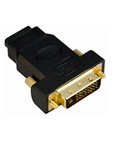 HDMI 19F/DVI 24+1M Adaptor 24K Gold plated CA312 - Yes Original