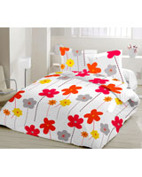 Cashkool Design Orange Flat Bed Sheet - Comfort