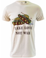 Make Love Not War graphic T-Shirt Beige - Ultimate
