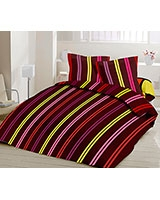 Winter printed quilt Colors stripes design - Comfort
