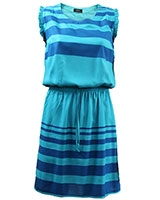 Sleeveless Striped Dress Turquoise & Blue - Giro