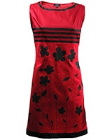 Sleeveless Printed Dress Red & Black - Giro