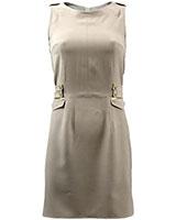 Sleeveless Plain Shift Dress DR50 Beige - Giro