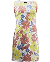 Floral Sleeveless Shift Dress Multicolor - Giro