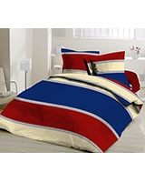 Fitted bed sheet Pantone Design Red x Blue - Comfort