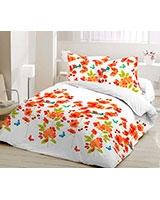 Winter supreme fiber quilt Elysian design Nectarine - Comfort