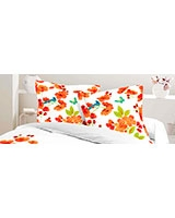 Printed pillowcase Elysian design Nectarine - Comfort