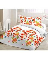 Printed duvet cover Elysian design Nectarine - Comfort