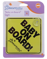 Baby On Board Sign - Dream Baby