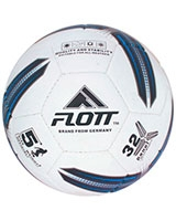 Hand sewn Semi-PU football White/Blue FSO-0122 - Flott