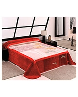 B Gold 742 blanket size 220x240 Red - Mora