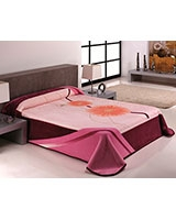 B Gold 743 blanket size 220x240 Purple - Mora