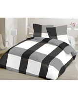 Flat bed sheet XO design Gray - Comfort