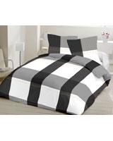 Flat bed sheet XO design Gray - Comfort