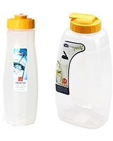 Slim Water Bottles 1.2L + Fridge Jug PP 2.0L Yellow - Lock & Lock