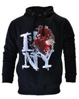 Printed Sweatshirt I Bloody Love NY Graphic Hoodie Black - Ultimate