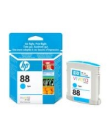 Genuine HP 88 Light User Cyan Ink Cartridge (C9386AE Inkjet Printer Cartridge)