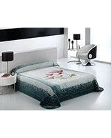 B Harmony 019 blanket size 220x240 Turquoise - Mora