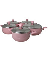 Ceramic Deep Pot Set 5 Pieces - Mehtap