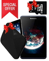 A3500 3G Tablet - Lenovo + Free  Sleeve - Targus + Free Micro SD Card 8GB - Pny