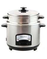 Rice & Vegetables Cooker Stainless Steel MT-BZ074 - Media Tech