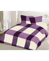 Flat bed sheet XO design Mauve - Comfort