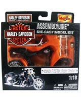 Assembly Line Die-cast Model Kit Metallic Black 2000 - Maisto Die-Cast