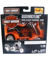 Assembly Line Die-cast Model Kit Metallic Black 2002 - Maisto Die-Cast