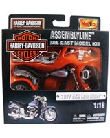 Assembly Line Die-cast Model Kit Metallic Black X Grey - Maisto Die-Cast