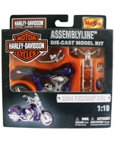 Assembly Line Die-cast Model Kit Metallic Mouve - Maisto Die-Cast