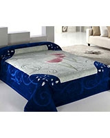 B Gold 829 Deluxe blanket size 220x240 Blue - Mora