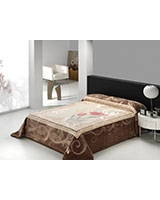 B Gold Deluxe 909 blanket size 220x240 Brown - Mora