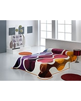 B Nova 079 blanket size 220x240 Orange - Mora