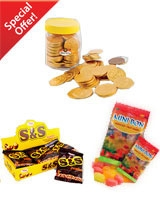 Chocolate Coin 75Pcs - S & S 12Bag – Mini Bon 90 gm - Sima