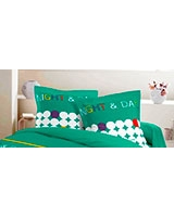 Printed pillowcase Night and Day design Emerald - Comfort