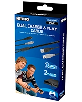 Charging & Play Cable For 2x PS4 Gamepads - Nitho