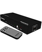 ProSwitch.H5 HDMI Mini Switch, 5 input by 1 output, With Remote and Manual Control - Promate