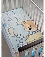 B Piccola baby blanket size 110x140 Blue - Mora