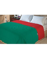 Double face summer fiber quilt Emerald x Poppy Red - Comfort