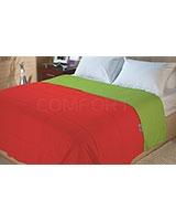 Double face summer fiber quilt Poppy Red x Tender shoot - Comfort