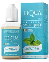 E-Cigarette Liquid Menthol 30ml/6mg - Liqua